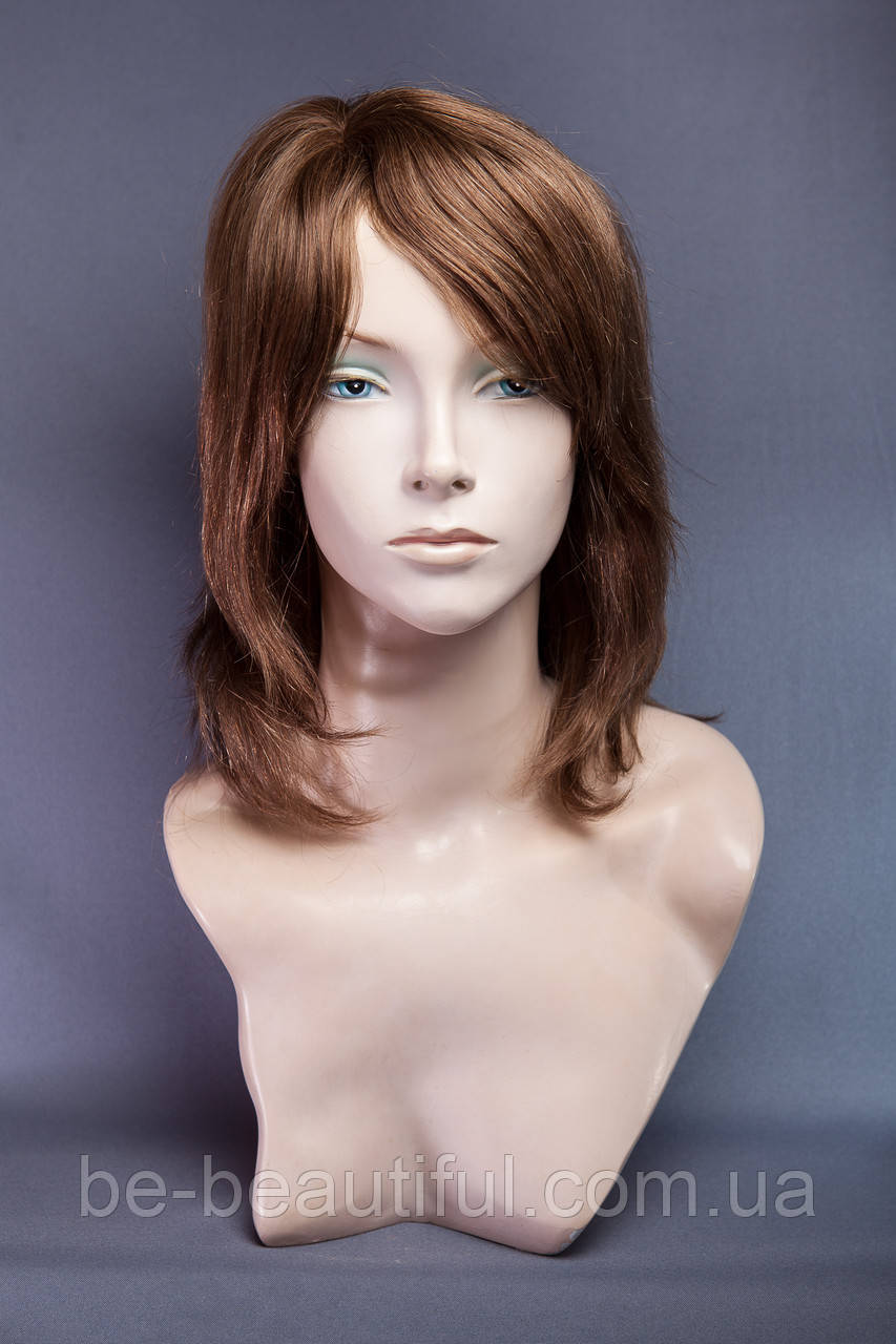 Натуральный парик, цвет светло-русый