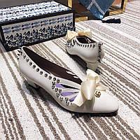 Туфли GUCCI с заклепками-шипами, фото 1