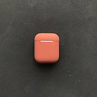 Силіконовий чохол Slim для навушників Apple AirPods персиковий peach