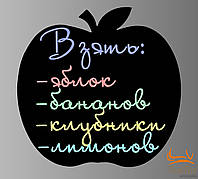 Магнітна дошка на холодильник Яблуко 43*43 см