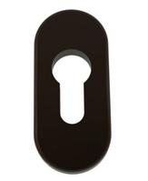 Накладка на цилиндр замка ПВХ коричневая