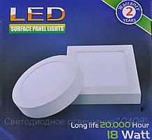 Светодиодный светильник форма круг 12W