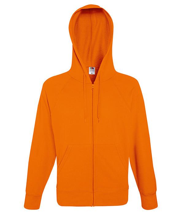 Мужская толстовка на молнии S, 44 Оранжевый