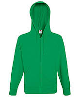 Мужская толстовка на молнии S, 47 Ярко-Зеленый
