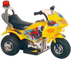 Детский мотоцикл Tilly T-721, желтый