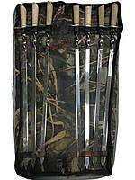Набор шампуров с деревянной ручкой  (7 шампуров и чехол)
