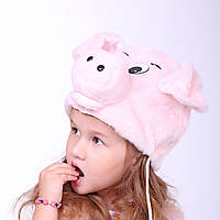 Детская маскарадная шапка поросенка