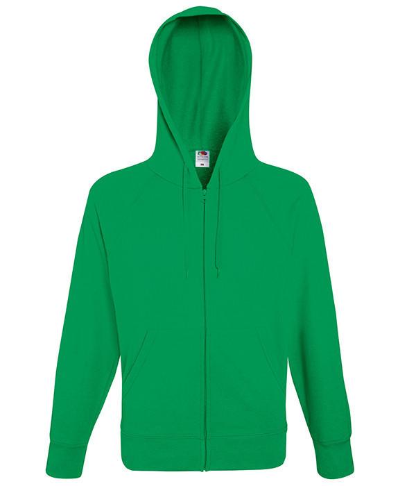 Мужская толстовка на молнии L, 47 Ярко-Зеленый