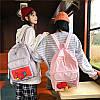 Нейлоновый рюкзак с прозрачным карманом, фото 4