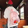 Нейлоновый рюкзак с прозрачным карманом, фото 7