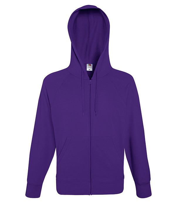Мужская толстовка на молнии 2XL, PE Фиолетовый