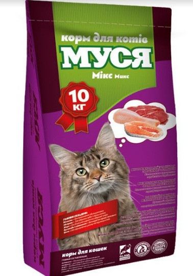 МУСЯ MИКС, Сухой корм для кошек, 10 кг