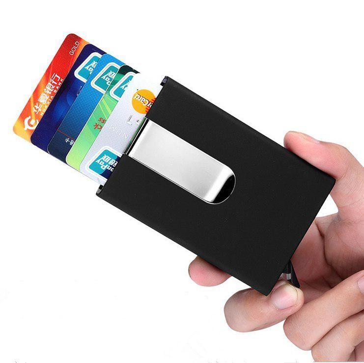 Картхолдер с Зажимом для Денег X-10 RFID Защита Черный