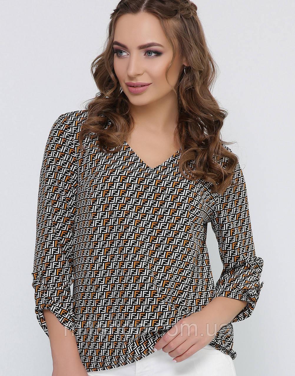 Женская блузка с геометрическим принтом (1819 mrs)