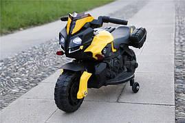 Детский мотоцикл Tilly T-7218, черно-желтый