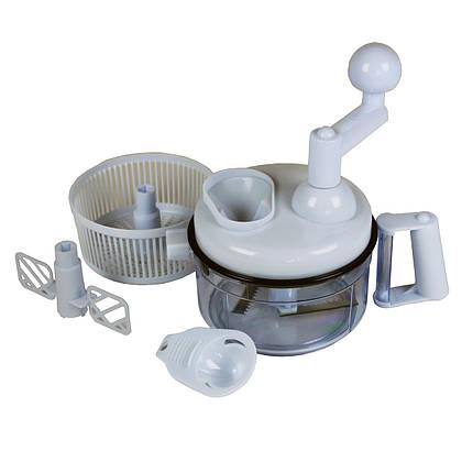 Механічний кухонний комбайн Blaumann BL-1572 подрібнювач сушка блендер міксер, фото 2
