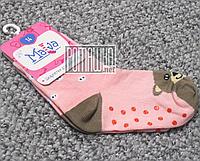 Детские плотные 11 см 12-18 (12) нескользящие антискользящие противоскользящие носки для девочки 4692 Розовый
