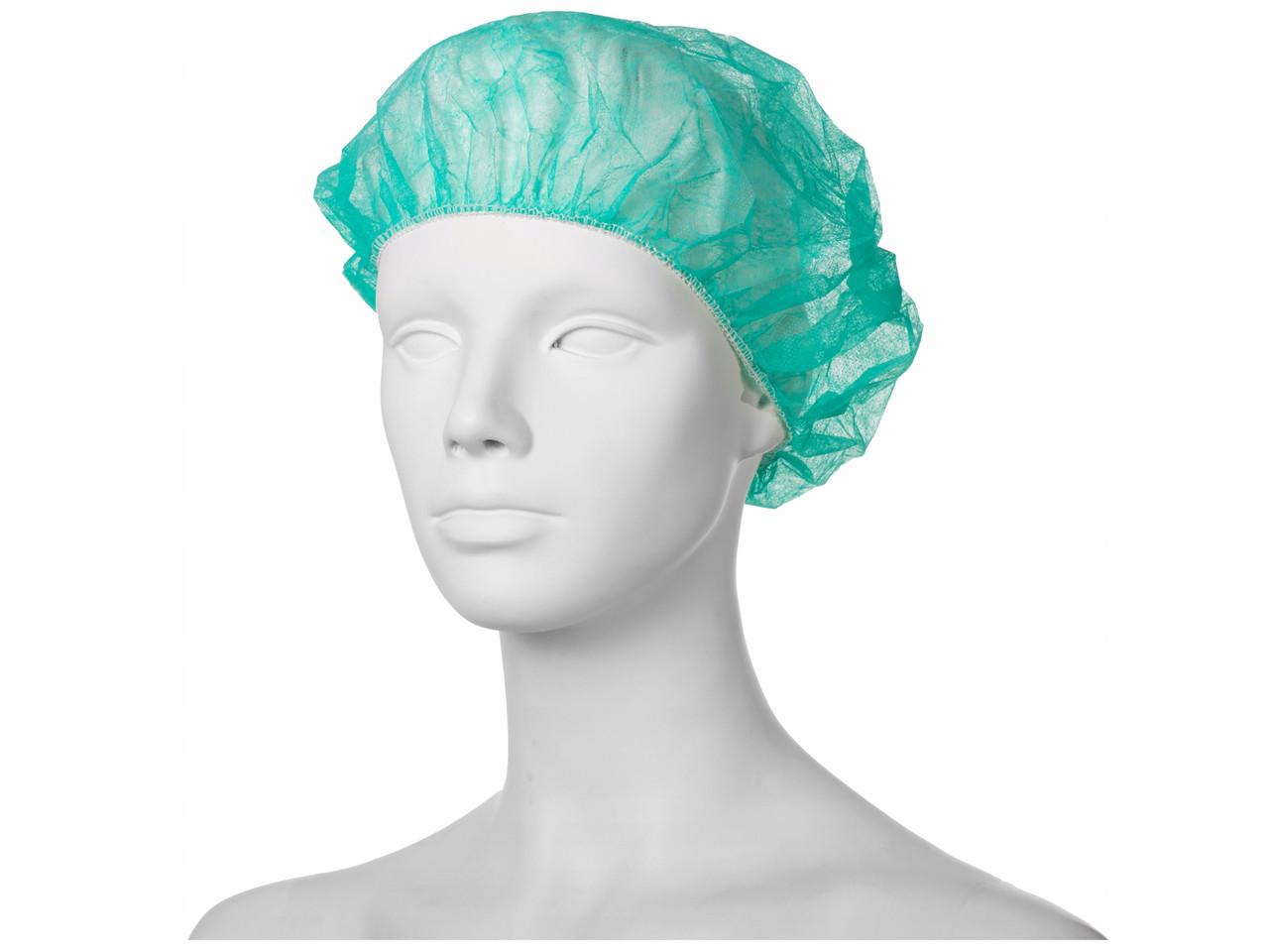 Шапочка медицинская MED COMFORT Ampri 100 шт одноразовая зеленая М