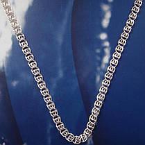 Серебряная цепочка, 550мм, 7 грамм, плетение Улитка, фото 2