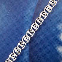 Серебряная цепочка, 550мм, 7 грамм, плетение Улитка, фото 3