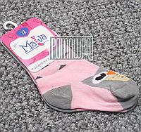 Детские носки 11 см 12-18 мес (12) весна осень плотные для девочки весенние осенние демисезонные 4695 Розовый