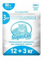 Супер Кет СтандартSuper Cat Standartдревесный наполнитель для кошачьего туалета 12+3кг