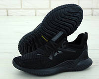"""Кроссовки мужские Adidas Alphabounce """"Черные"""" р. 41-45"""