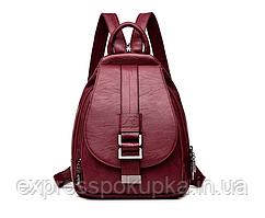 Модный, стильный и надежный Женский Рюкзак   2 ЦВЕТА Красный