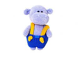 Игрушка ручной работы Handmade бегемот, синий