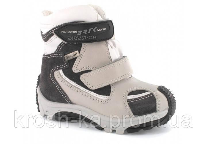 Ботинки для мальчика зимние Sympatex (26 размер) (Бартек)Bartek Польша белые 31408-0SN