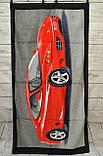 Полотенце велюр/махра пляжное Феррари 140х70 см., фото 2