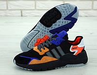 """Кроссовки мужские Adidas Nite Jogger """"Черные с оранжевым"""" р. 41-45, фото 1"""
