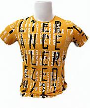 Футболка мужская Lagos с надписями Желтая