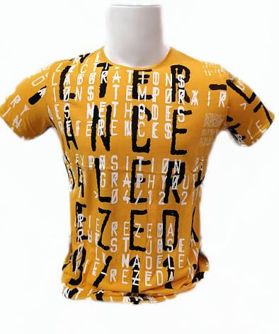 Футболка мужская Lagos с надписями Желтая , фото 2