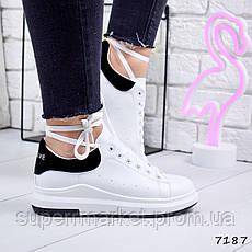 Кроссовки Beauty женские, белый + черный, 7187, фото 3