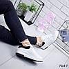 Кроссовки Beauty женские, белый + черный, 7187, фото 2