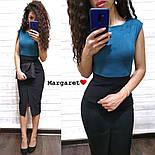 Женское стильное замшевое платье-карандаш (в расцветках), фото 5