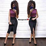Женское стильное замшевое платье-карандаш (в расцветках), фото 6