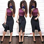 Женское стильное замшевое платье-карандаш (в расцветках), фото 4