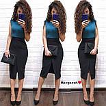 Женское стильное замшевое платье-карандаш (в расцветках), фото 8