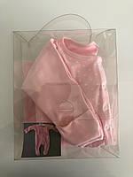 Комплект для девочки, розовый в горошинки, 0-3 месяца