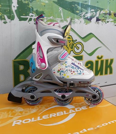 ade206d2ab69f4 Ролики дитячі RollerBlade Spitfire Flash G розмір 28-32 білий/рожевий