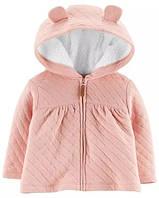 Демисезонная курточка стёганая Carters 6М рост 61-69 см розовая куртка девочке Картерс на молнии с капюшоном