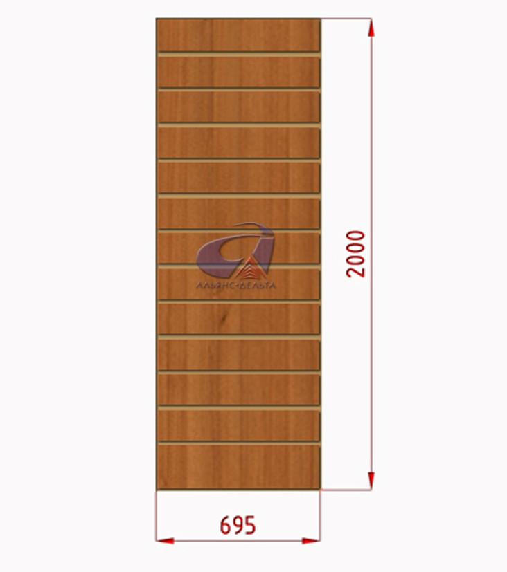 Экспопанели, экономпанели орех H=2000мм, W=690мм