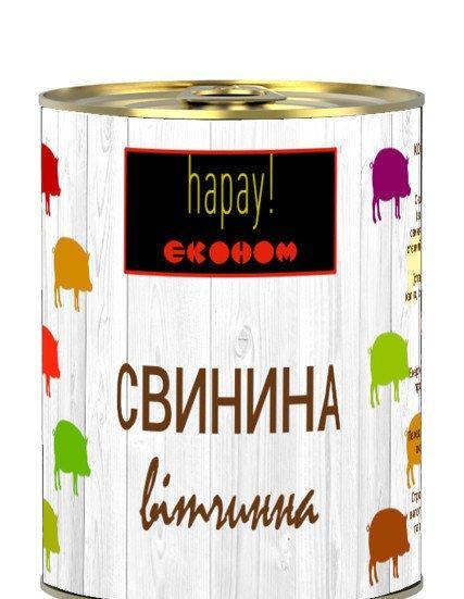 "Тушенка Свинина ветчиная 340г ""hapay"""