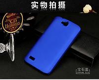 Чехол накладка бампер для Huawei Honor 3C Lite синий