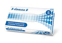 Рукавички латексні, припудрені DOMAN - 100 шт/уп, S