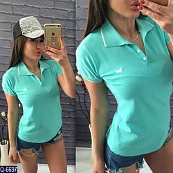 Женская футболка поло 42 44 46