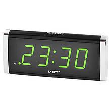 Годинник мережеві VST 730-4 салатові