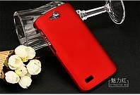 Чехол накладка бампер для Huawei Honor 3C Lite красный